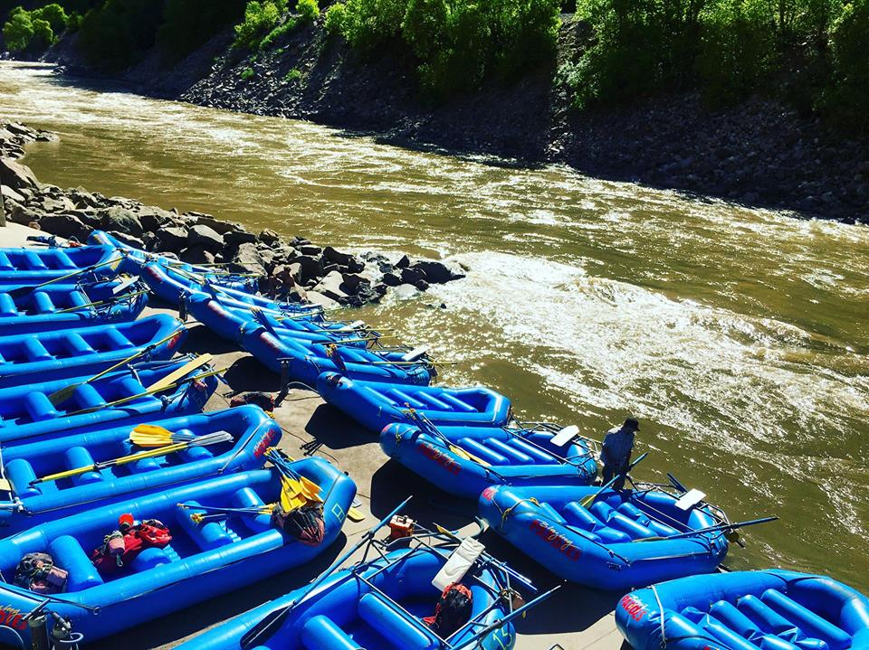 Aspen | Snowmass Group Adventures - Guided Rafting Trip - Rafts Lined Up