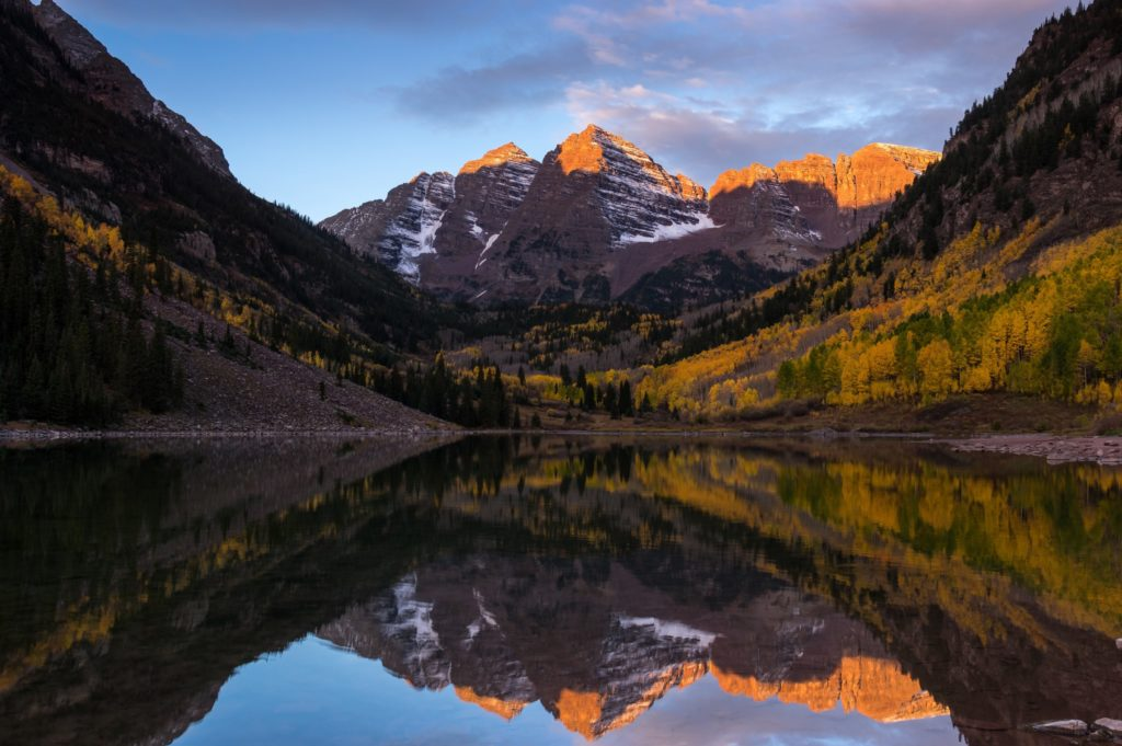 Maroon Bells at Sunrise - Aspen | Snowmass Adventure Tours