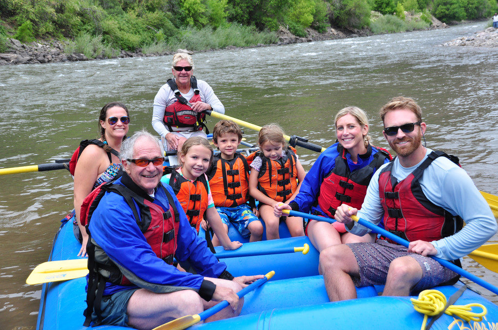 Aspen | Snowmass Guided Custom Group Tours: Hillary & Family Rafting