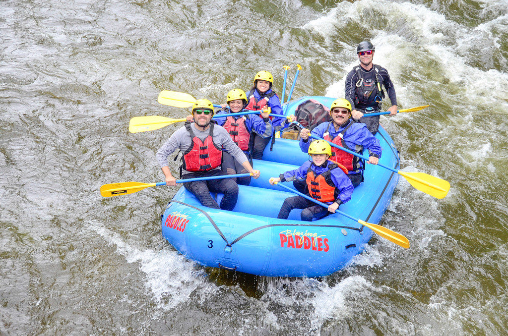 group photo in raft