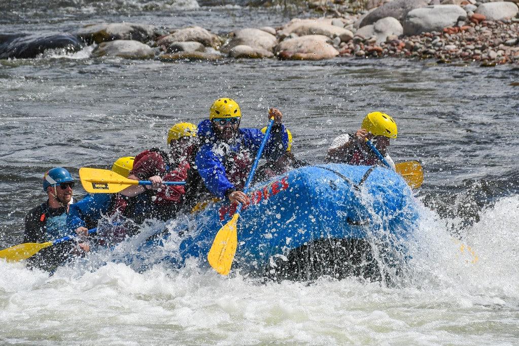 raft rearing up