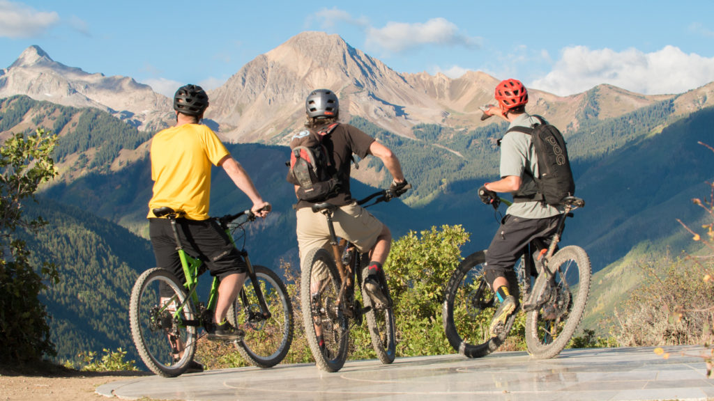Aspen Snowmass MTB Adventures. Singletrack on the Rim Mountain Biking Trail