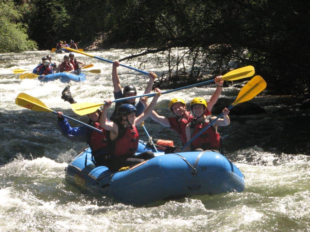 team cheers in rapids